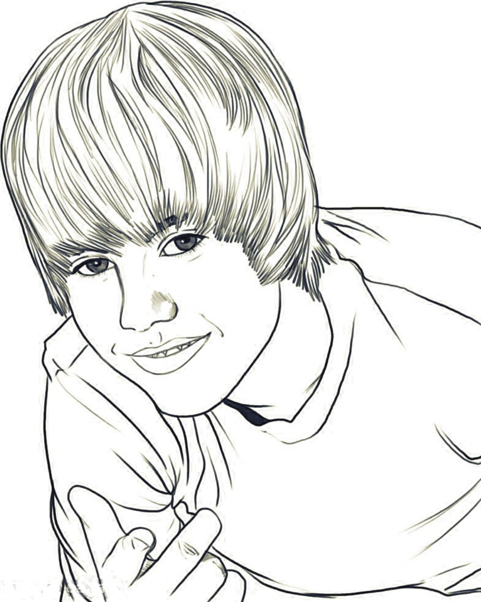 Bieber Coloring Pages