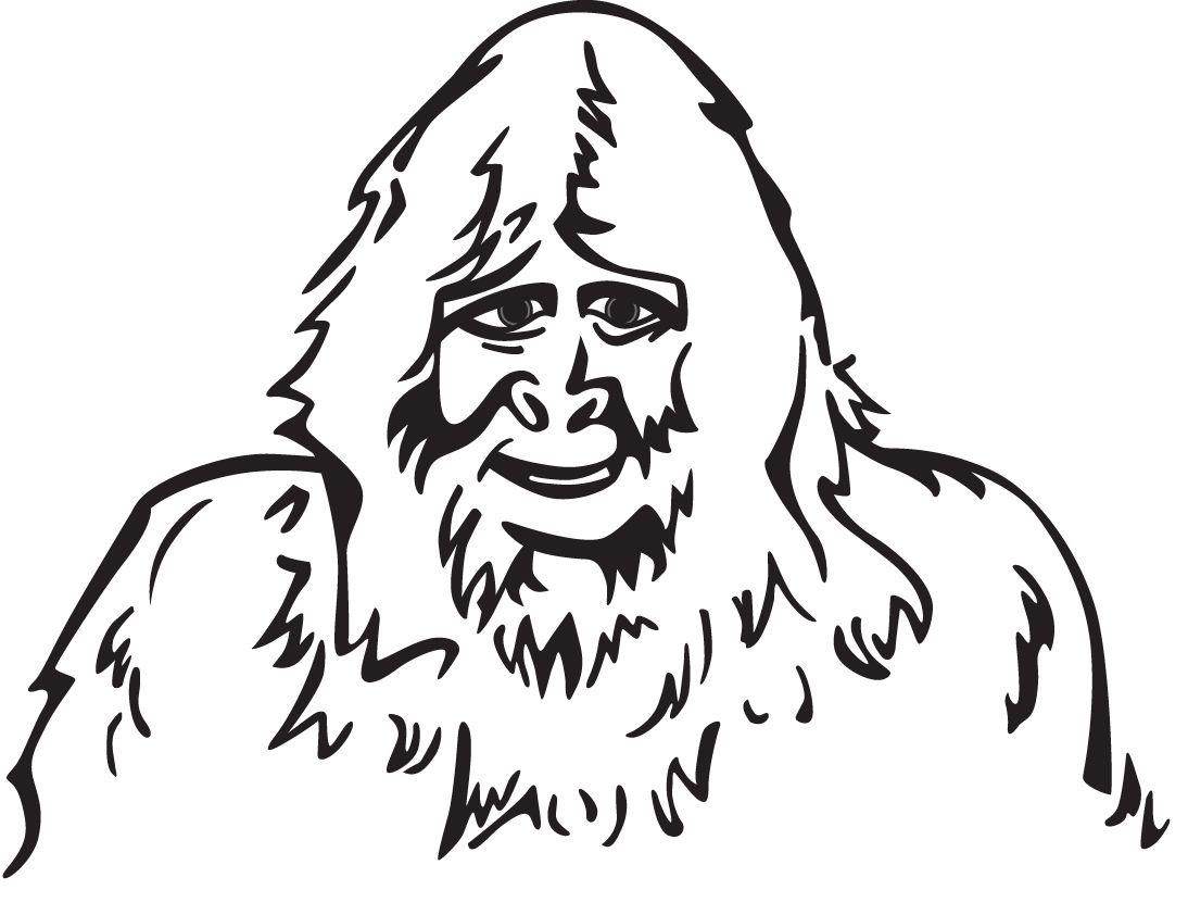 Bigfoot Coloring Pages And