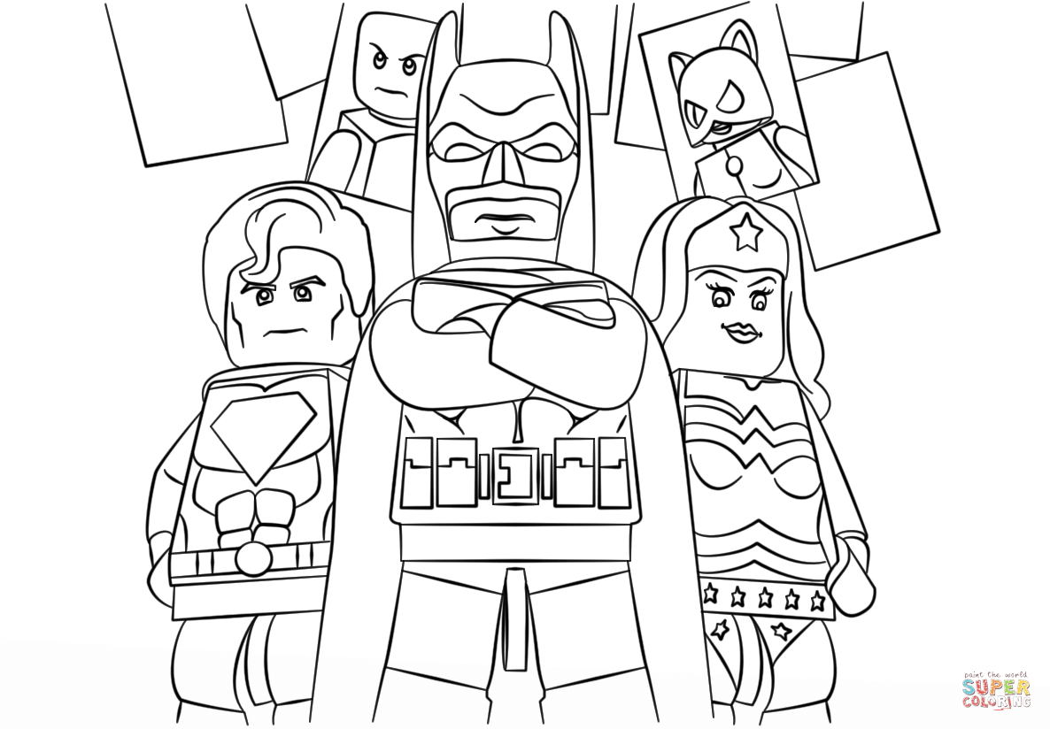 Lego Super Heroes Coloring Page
