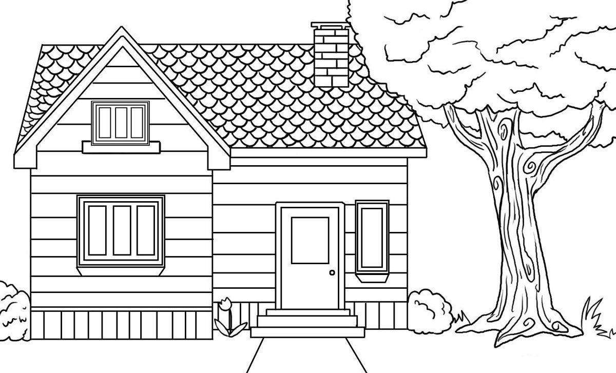 Lovely Coloring Pictures Of Houses 64 On Coloring Pages For Adults