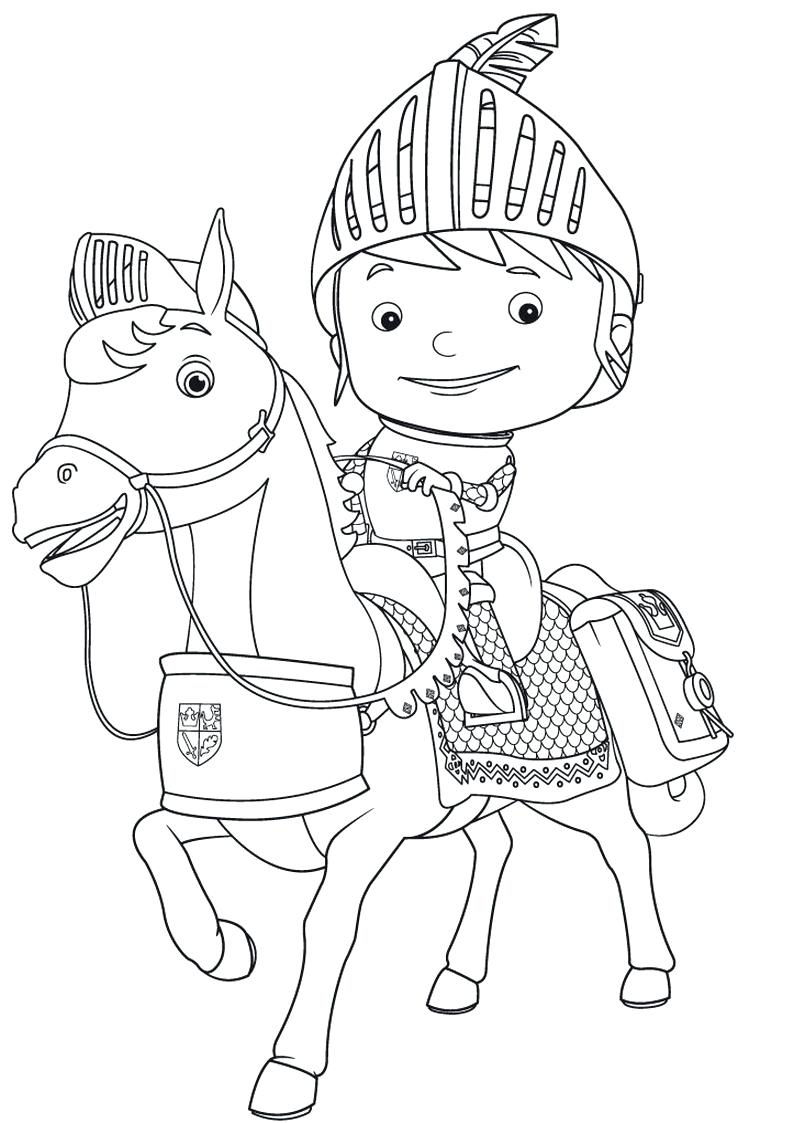 Mike The Knight Coloring Pages Z 59 Mesmerizing Free To Print Nick
