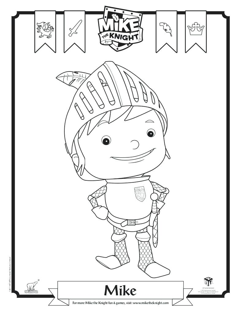 Mike The Knight Colouring Pages Coloring Page By On 70 Mesmerizing
