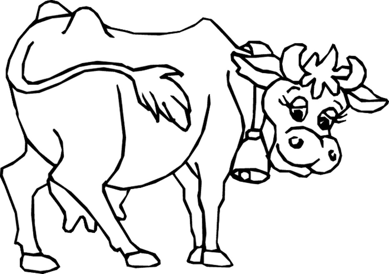 Modest Cow Coloring Pages Top Child Coloring D  1359