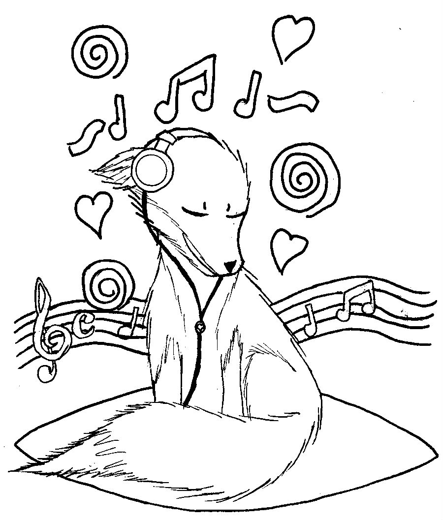 Music Coloring Pages For Kindergarten Archives Within Music