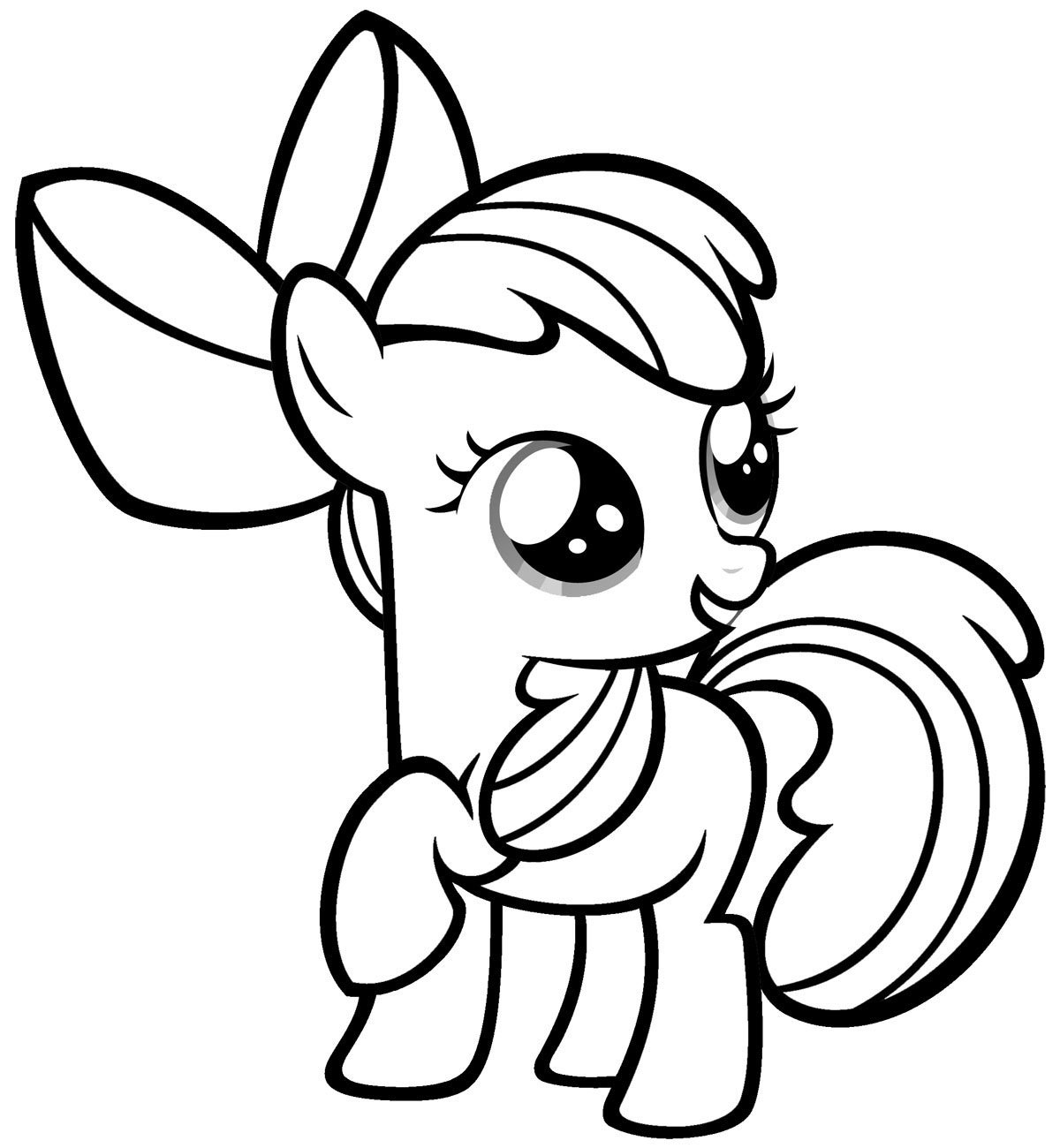 My Little Pony Coloring Pages Apple Bloom