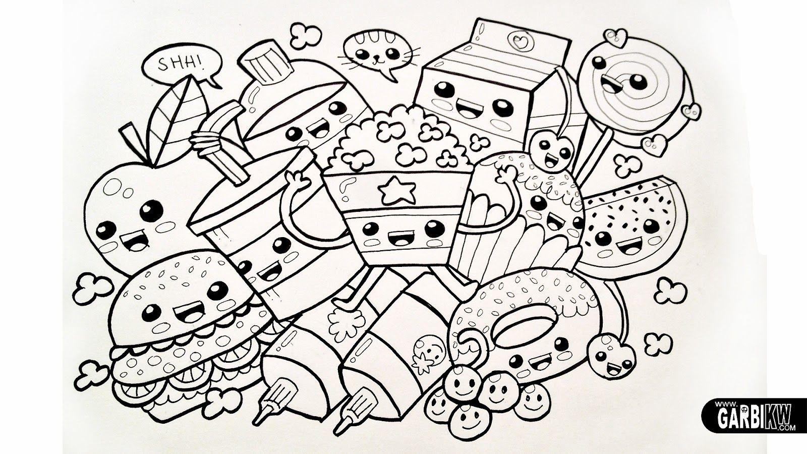 Cartoon Food Coloring Page