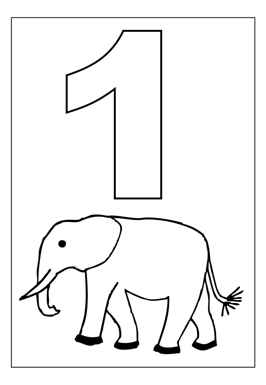 Number 1 Coloring Pages