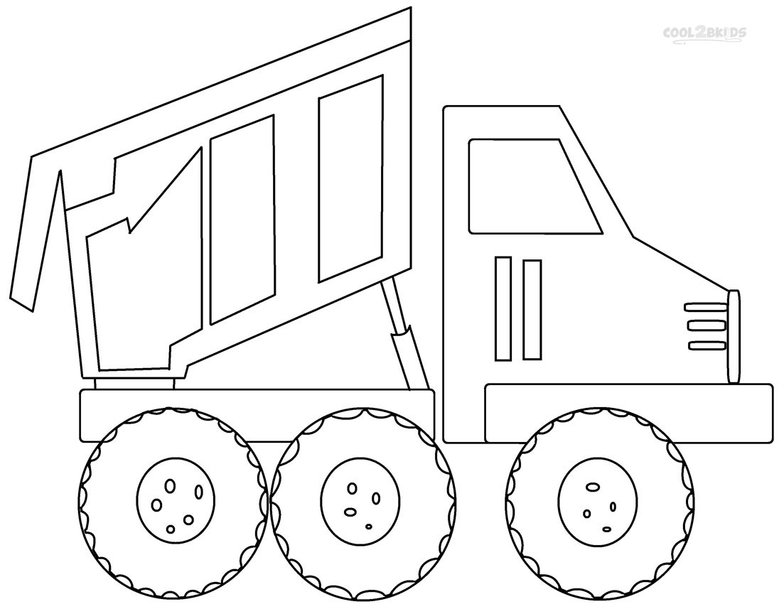 Online Dump Truck Coloring Pages 31 With Additional Coloring Print