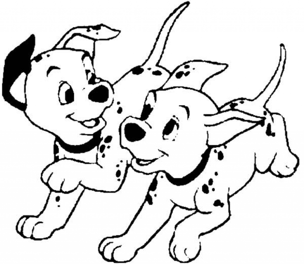 Awesome Printable 101 Dalmatians Cartoon Coloring Pages For Kids