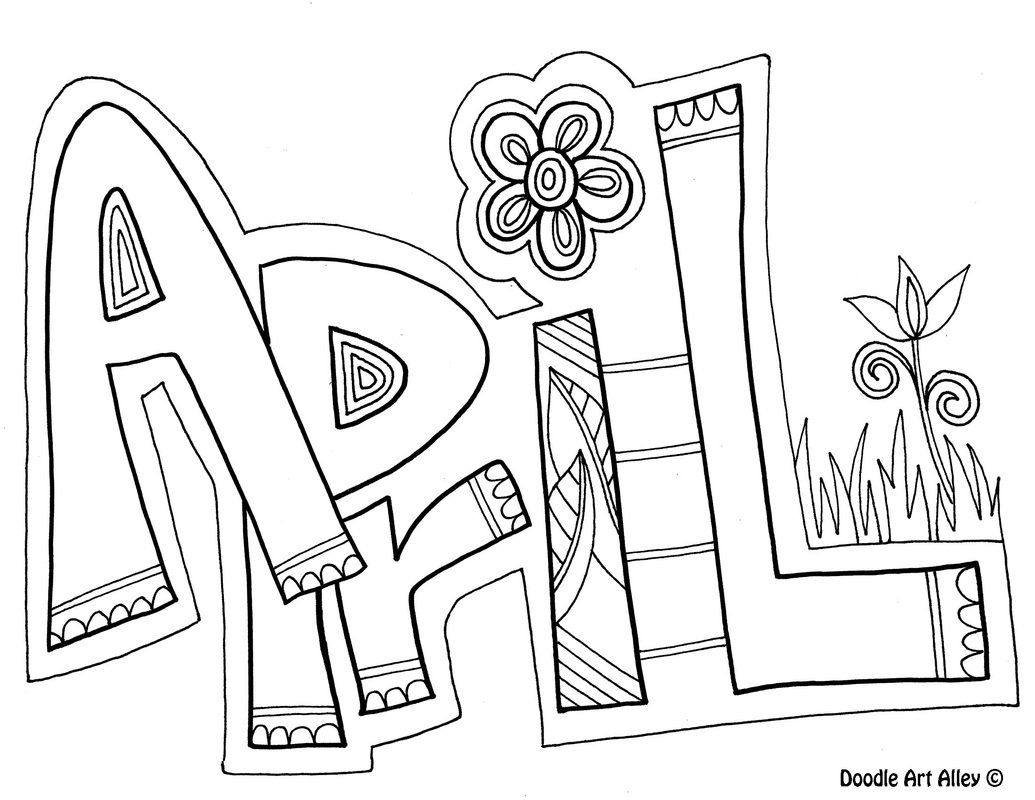 Perfect April Coloring Pages 46 For Coloring Pages Online With