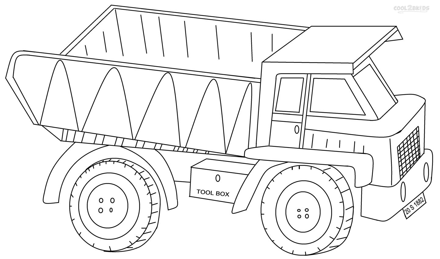 Perfect Dump Truck Coloring Pages 69 With Additional Coloring