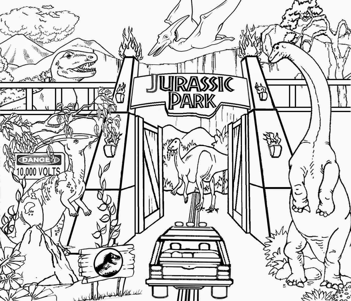 Perfect Jurassic Park Coloring Pages 83 For Line Drawings With