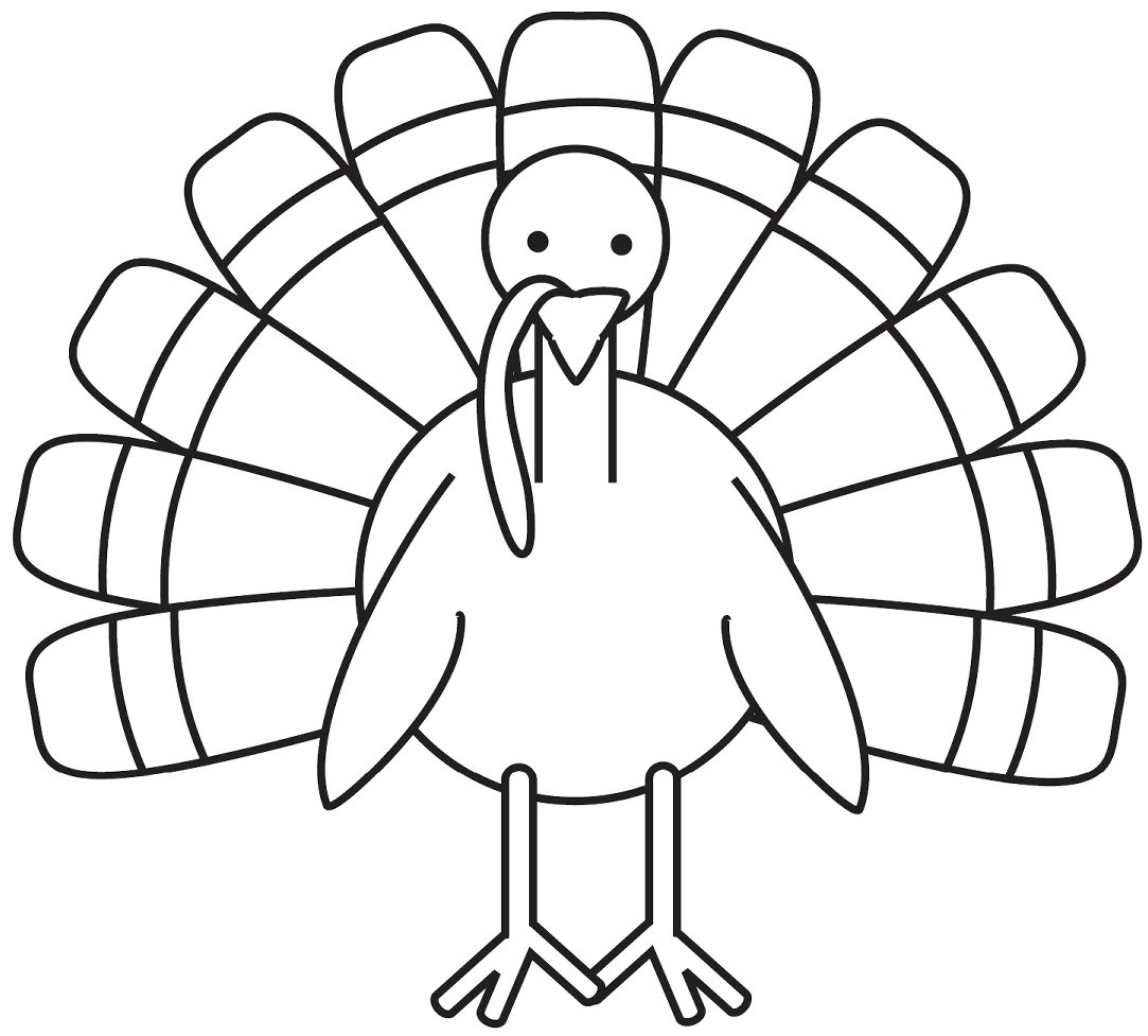 Picture Coloring Pages Of Thanksgiving Turkeys 14 For Line
