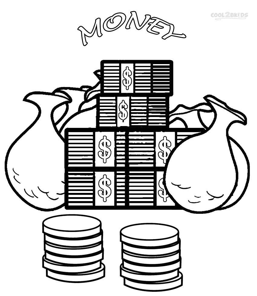 Pictures Money Coloring Sheet 69 For Free Coloring Pages For Kids