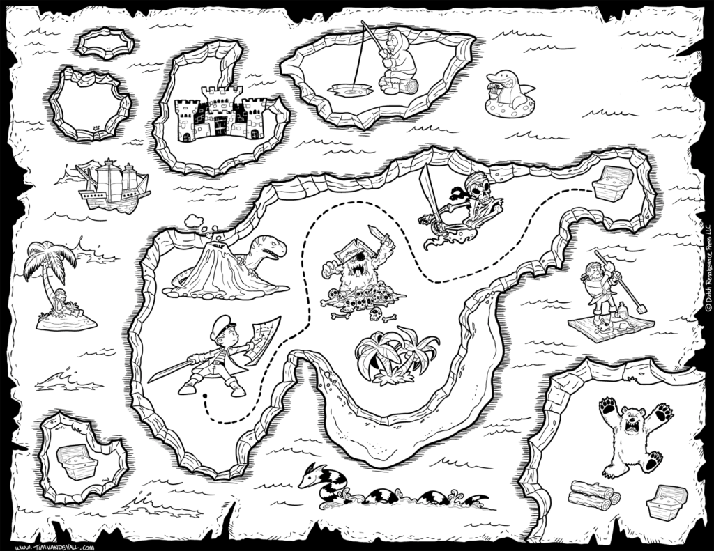 Pirate Treasure Map Coloring Pages Az Coloring Pages Treasure Map