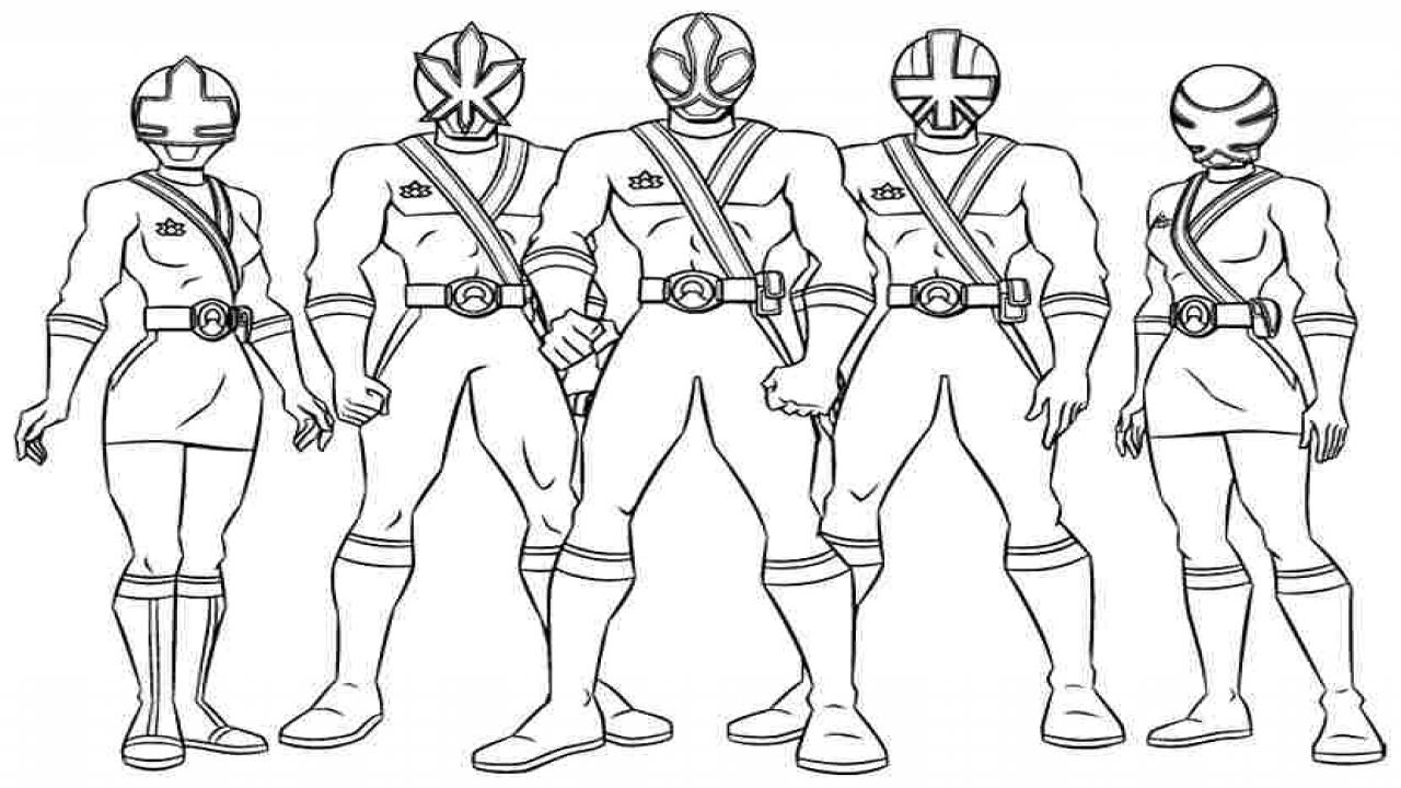 Power Ranger Coloring Pages Rangers Best Of