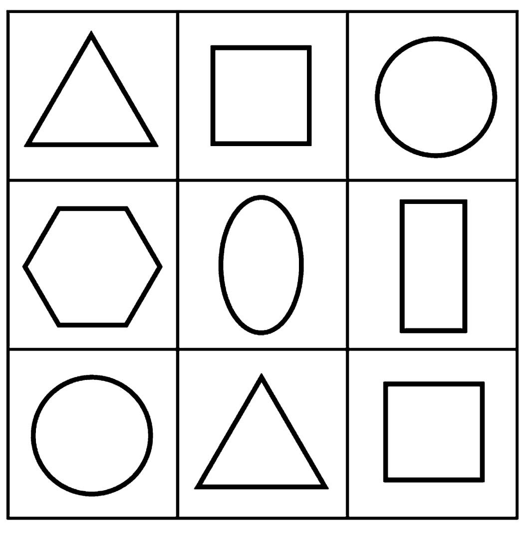 Simple Geometric Shapes Coloring Pages For Kids