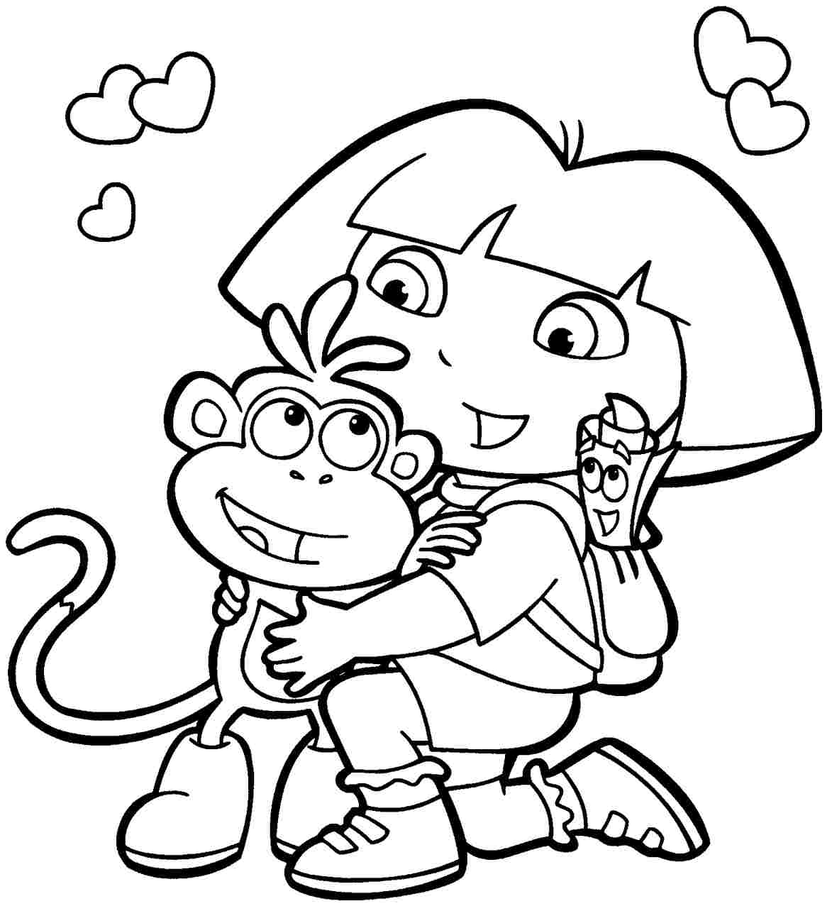 Free Cartoon Coloring Pages Kids Printable Gallery Best Of