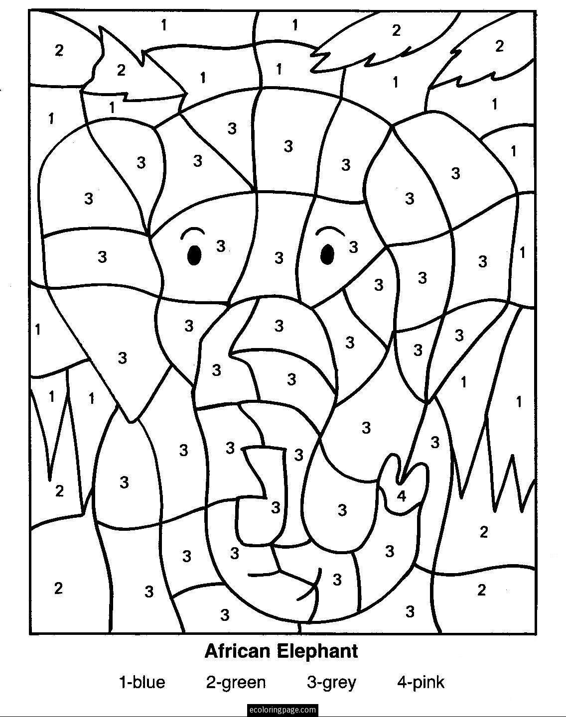 Printable Color By Numbers 54 For Your Free Coloring Pages For