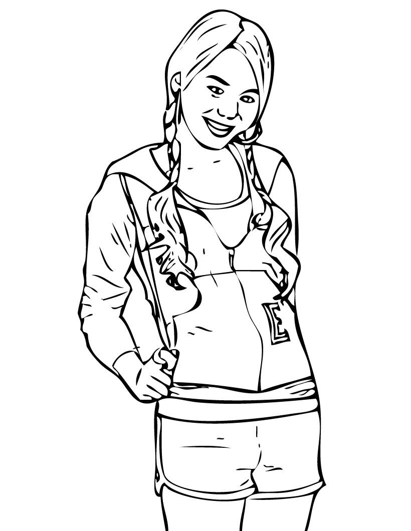 Free Printable Hannah Montana Coloring Pages For Kids