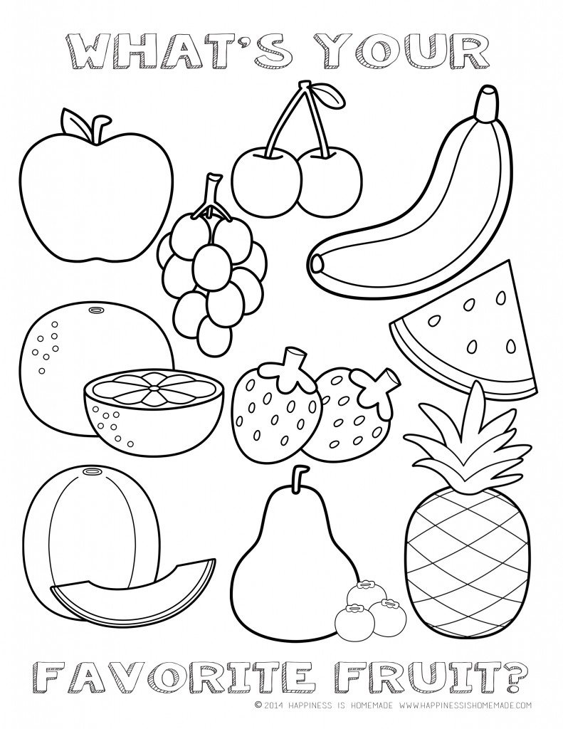 Printable Healthy Eating Chart Coloring Pages Throughout Food
