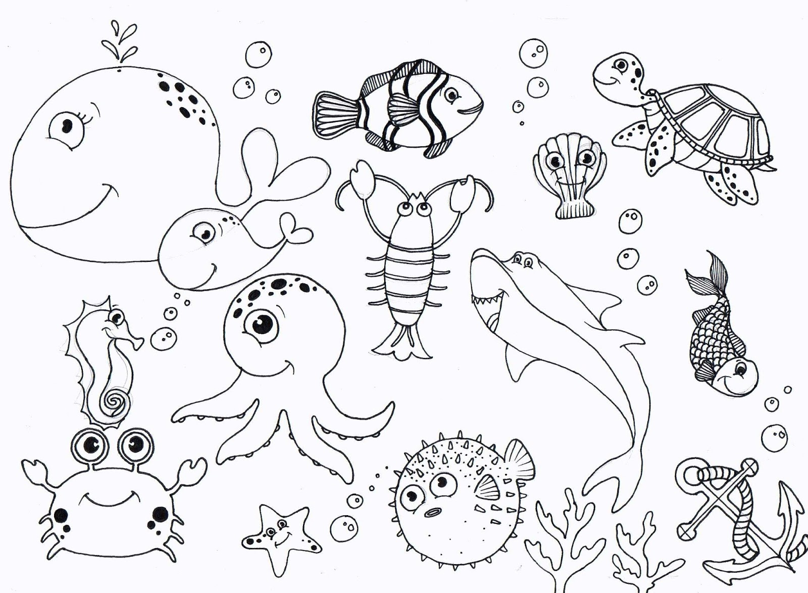 Under Sea Coloring Pages High Quality