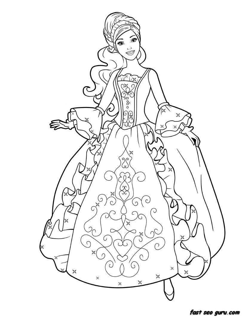 Sheets Princess Printable Coloring Pages 57 For Coloring Books