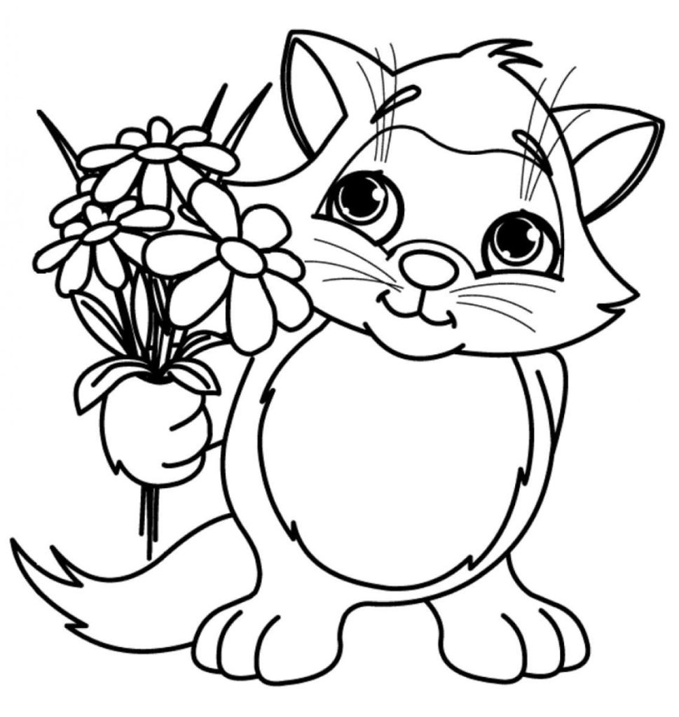 Cool Design Ideas Flower Coloring Pages For Kids Page Printable