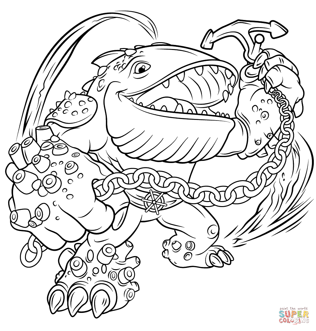 Skylanders Giants Thumpback Coloring Page