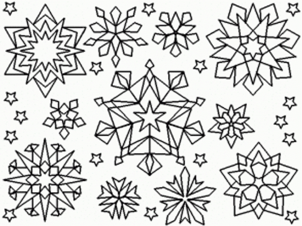 Snowflake Coloring Pages Printable And Page