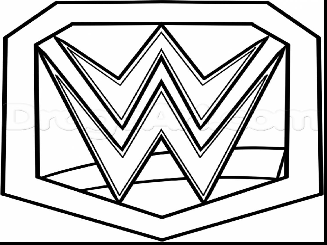 Stunning Wrestling Belt Coloring Pages With John Cena Coloring