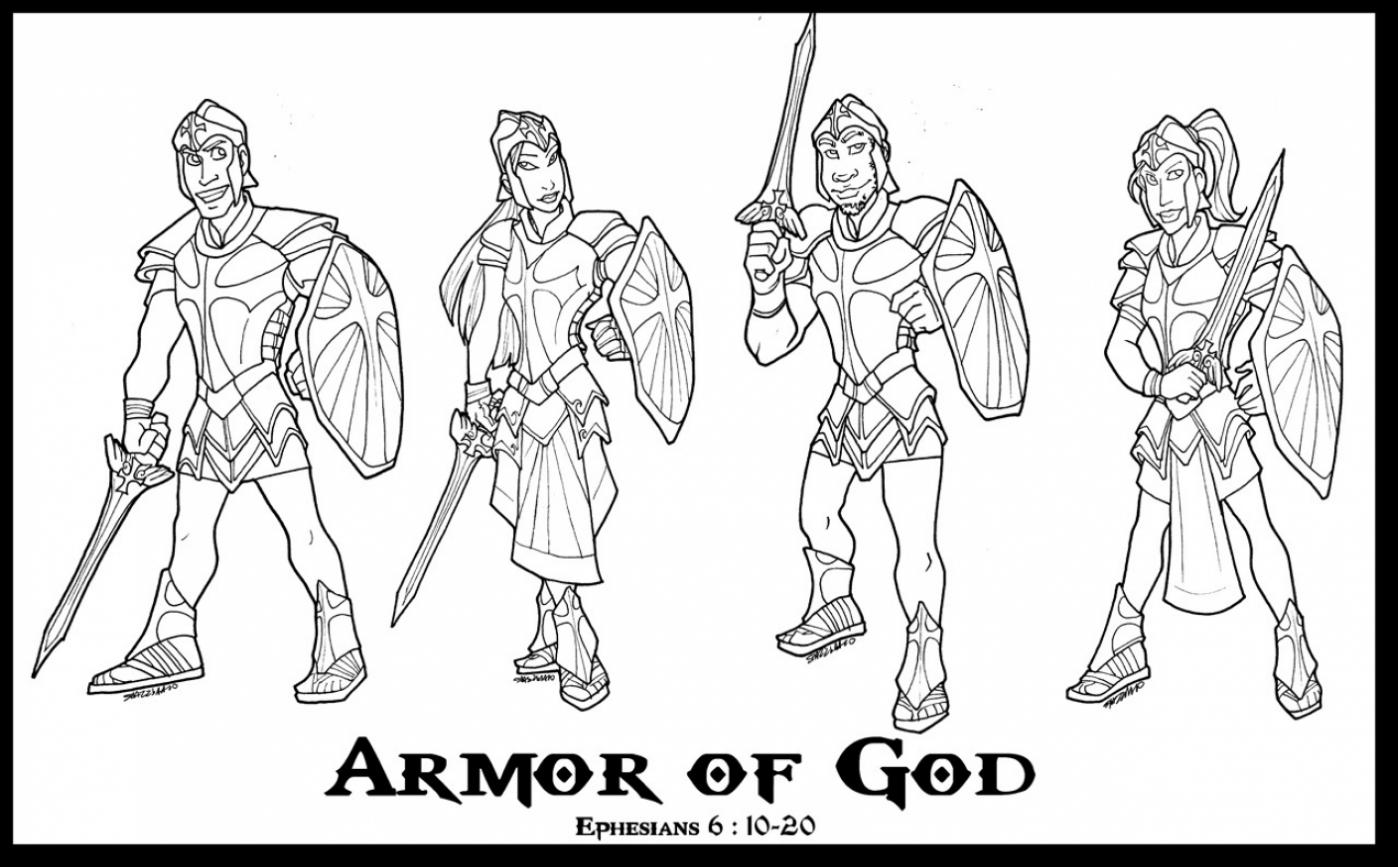Surprising Armor Of God Coloring Pages For Kids With Armor Of God