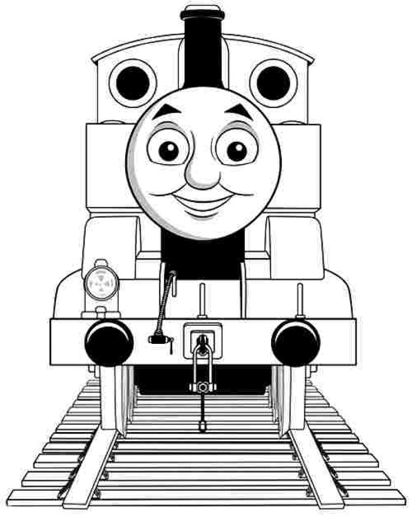 Train Coloring Page Party Hand Simple Engine Educations Thomas The