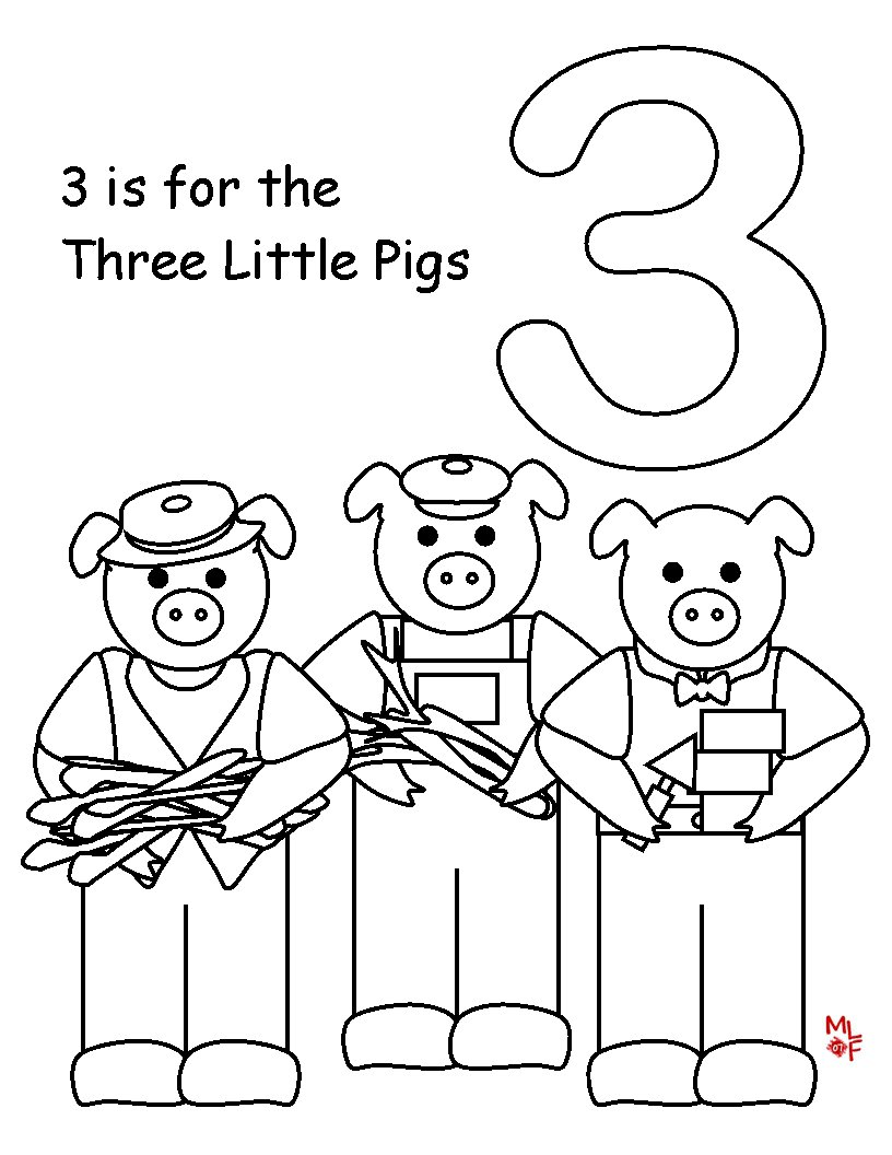 Three Little Pig Coloring Pages At