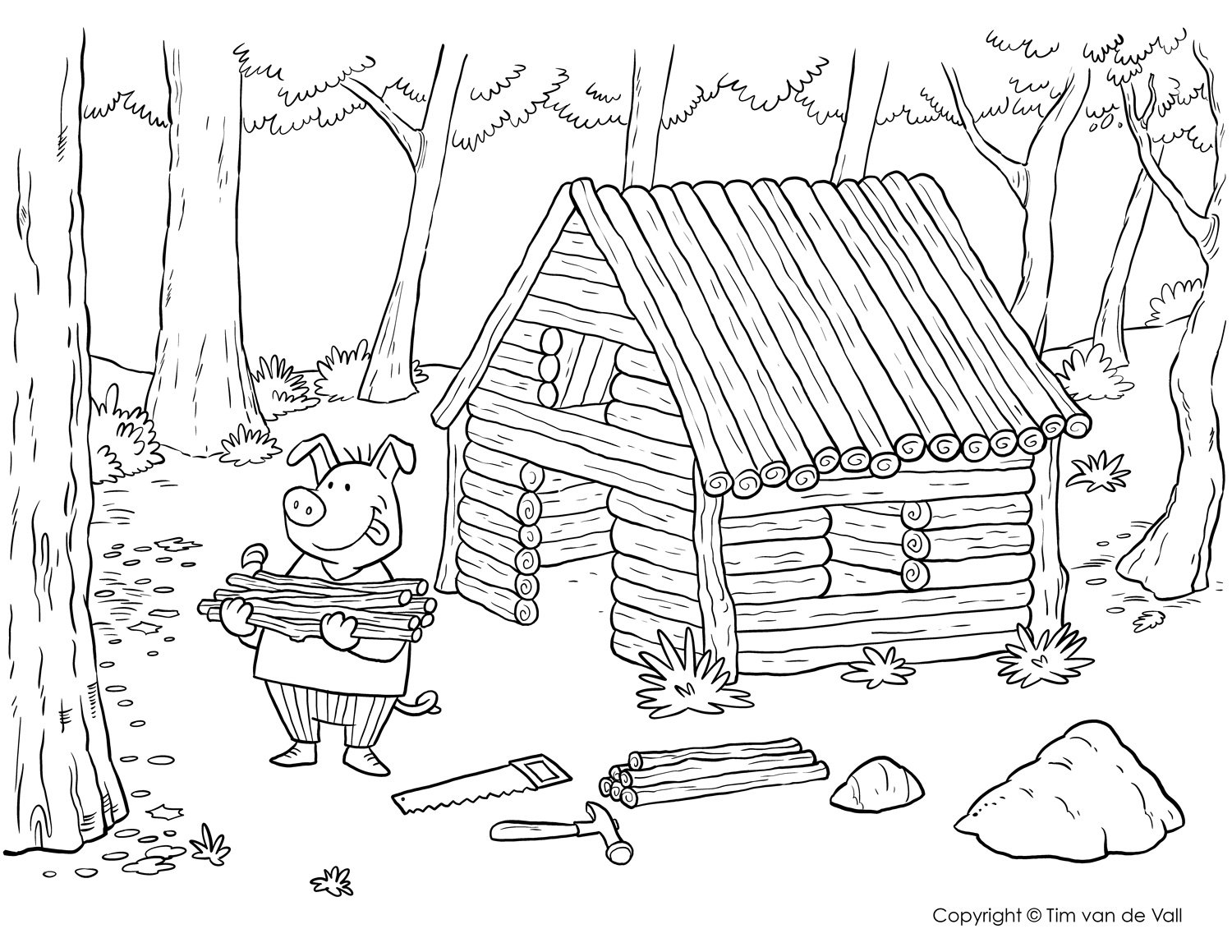 Three Little Pigs Coloring Pages – The Three Little Pigs Story