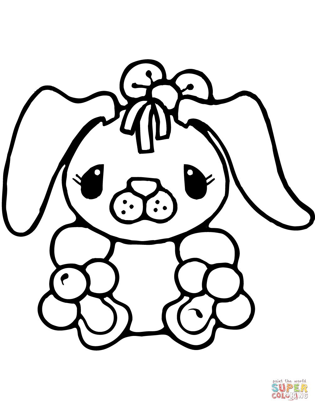 Tiny Bunny Rabbit Coloring Page