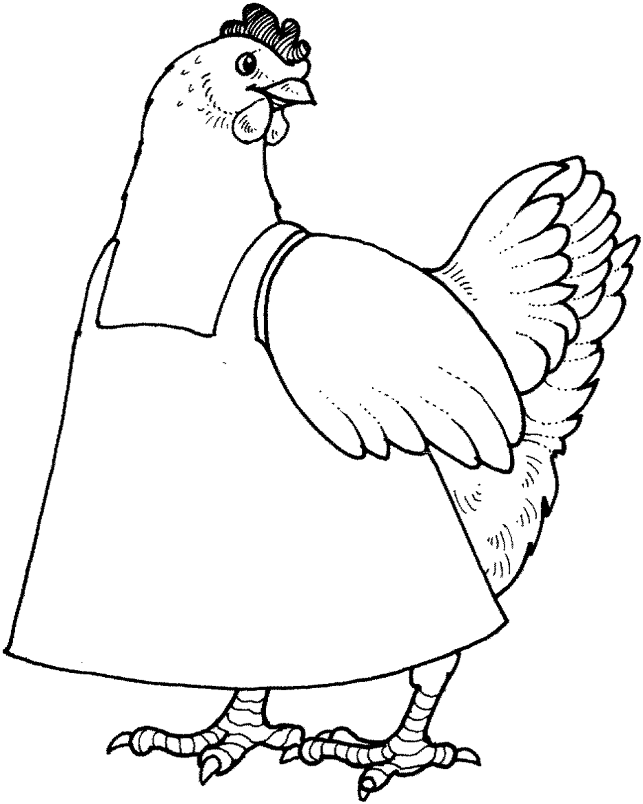 To Download Little Red Hen Coloring Pages 75 For Your Coloring