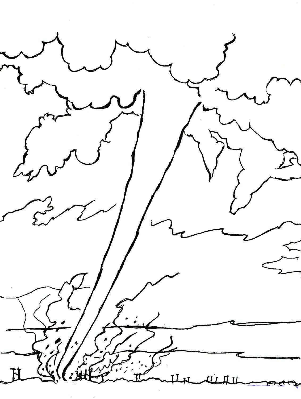 Wizard Of Oz Tornado Scene Coloring Page Free Printable Inside