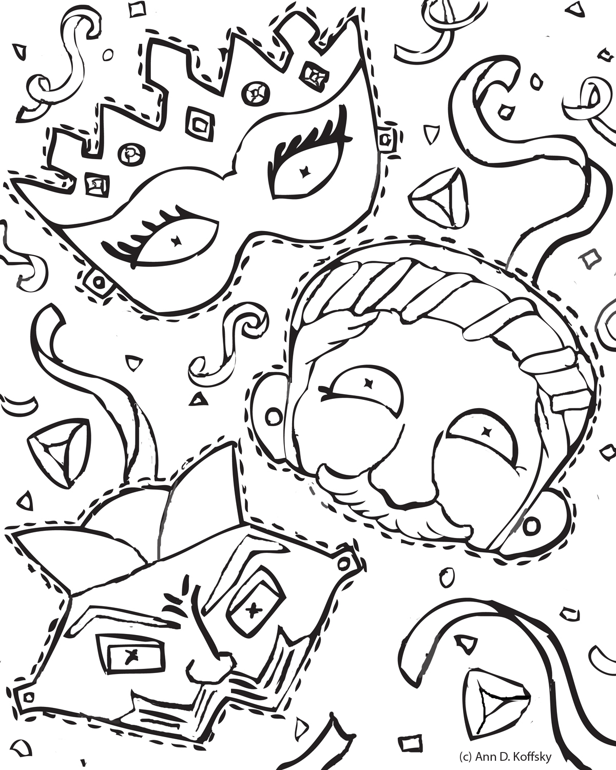 Trend Purim Coloring Pages 40 In Free Coloring Book With Purim