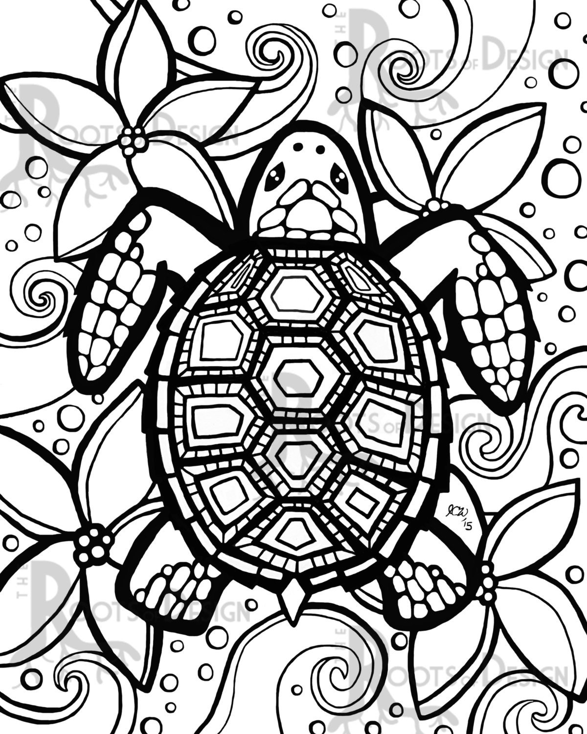 Turtle Coloring Pages For Kids Archives And Turtle Coloring Pages