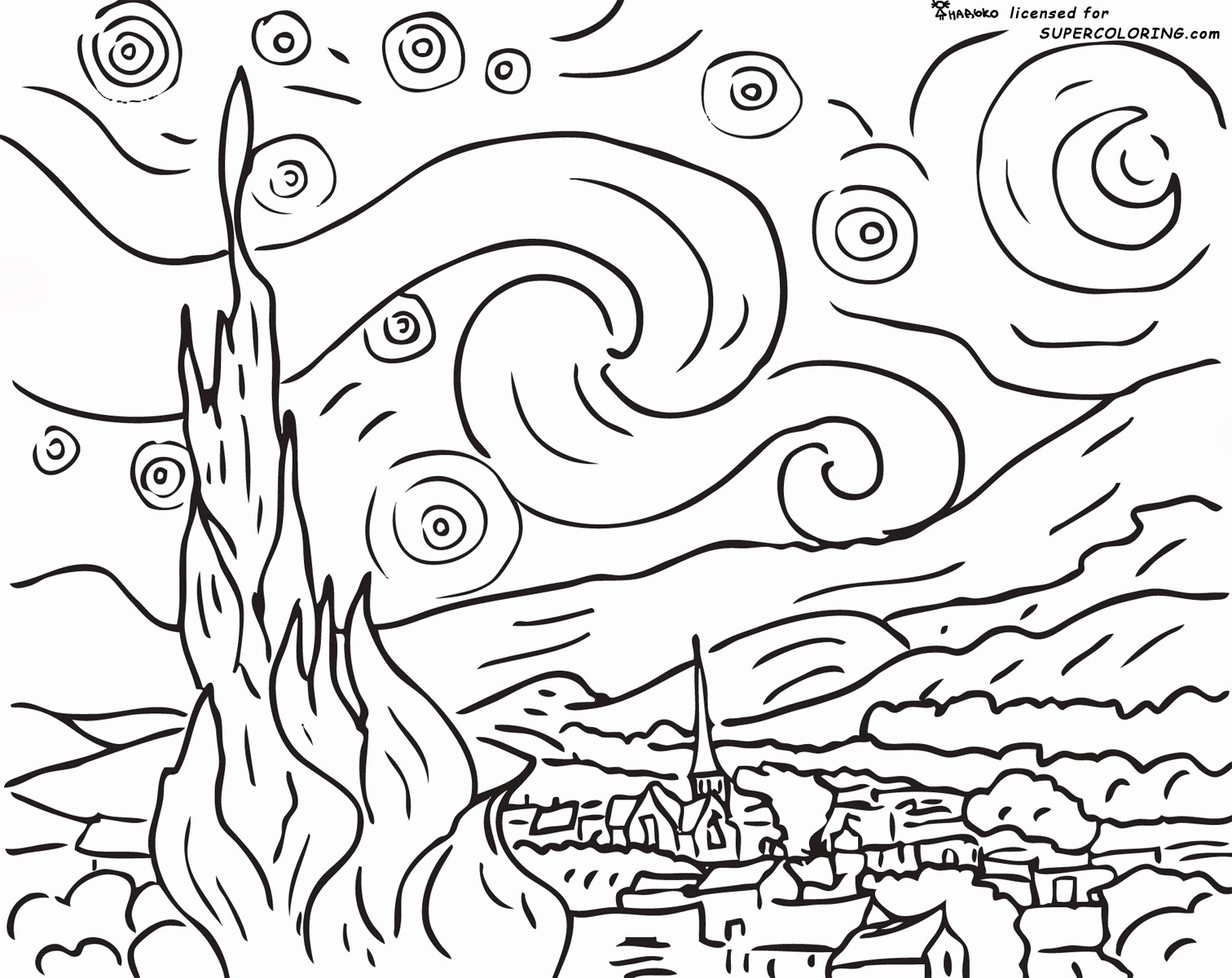 Unique Coloring Pages Of Famous Paintings 60 On Coloring Pages