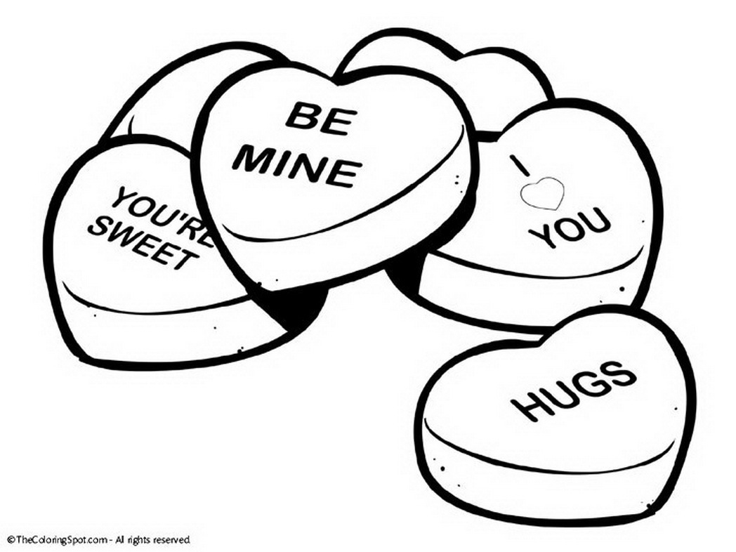 Valentine Coloring Pages Printable Valentines Day Within