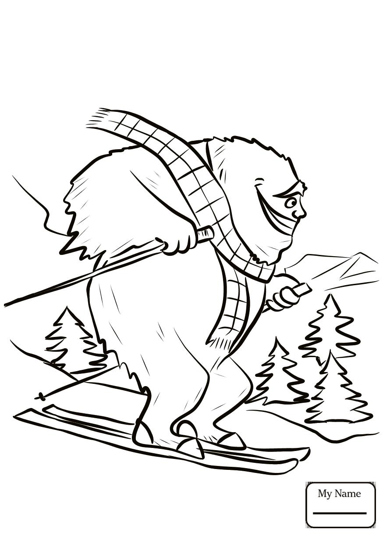Running Yeti Fantasy Mythology Yeti Bigfoot Coloring Pages