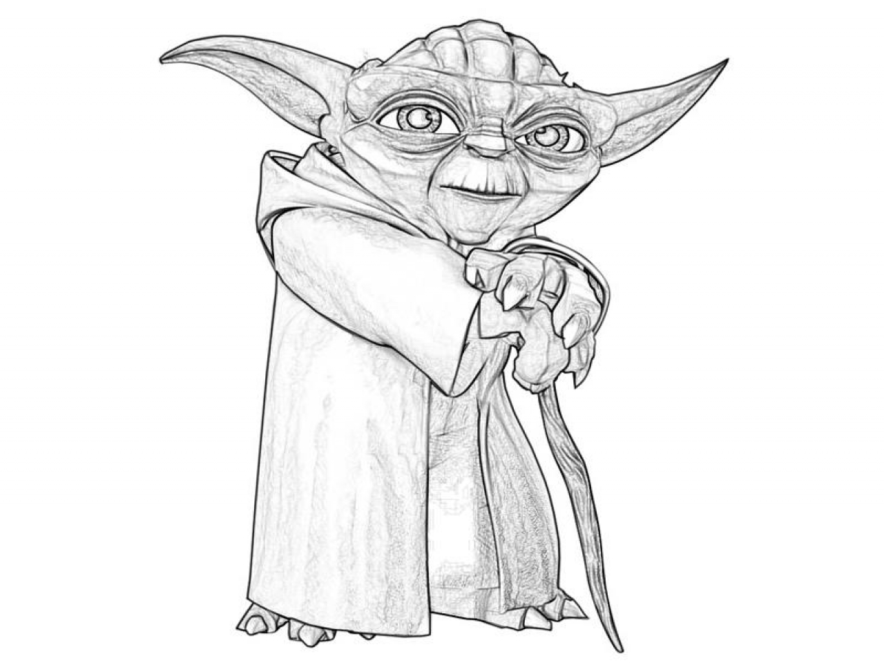Yoda Coloring Pages