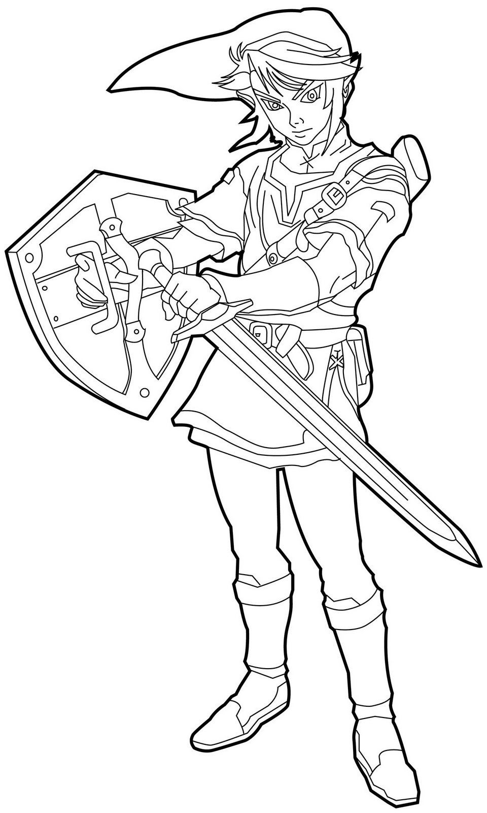 Legend Of Zelda Coloring Pages - NEO Coloring