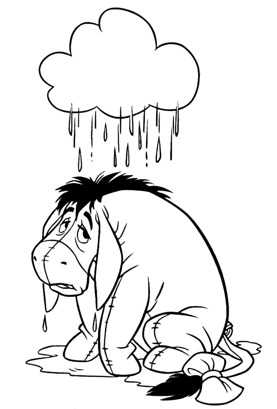 Xmas Stuff For   Eeyore Christmas Coloring Pages