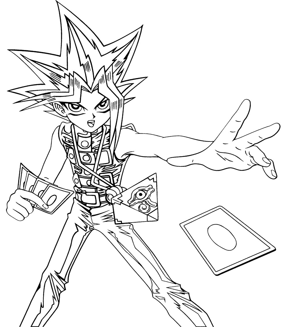 Yu Gi Oh Cards Cast Coloring Page