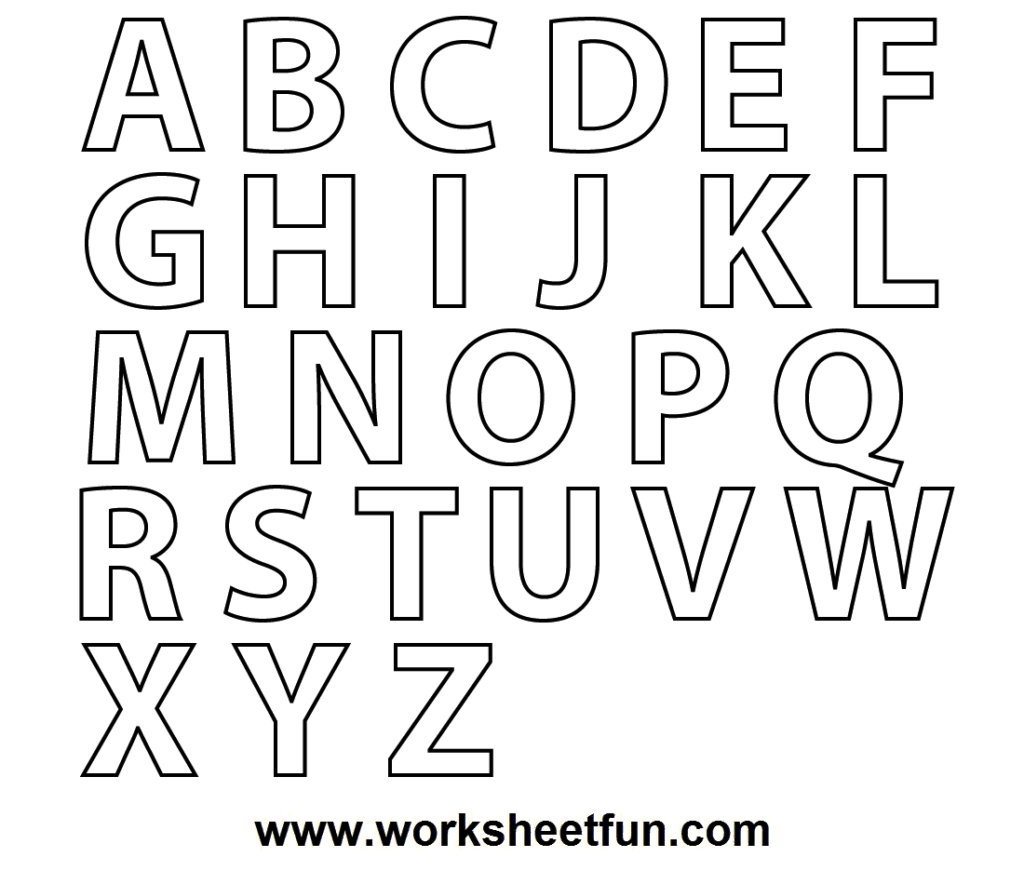 A Z Alphabet Coloring Pages Download And Print For Free Printable