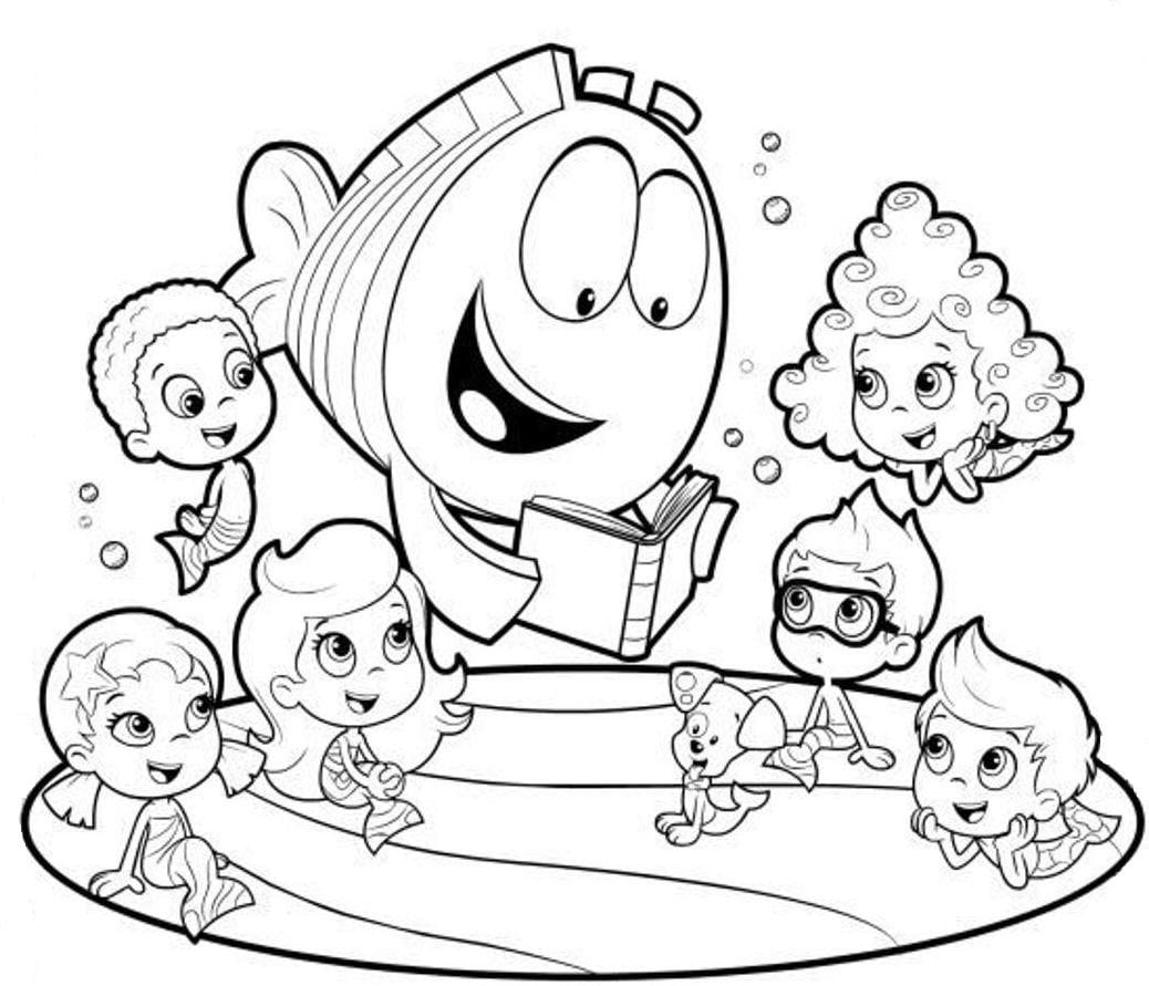 Adorable Bubble Guppies Coloring Pages