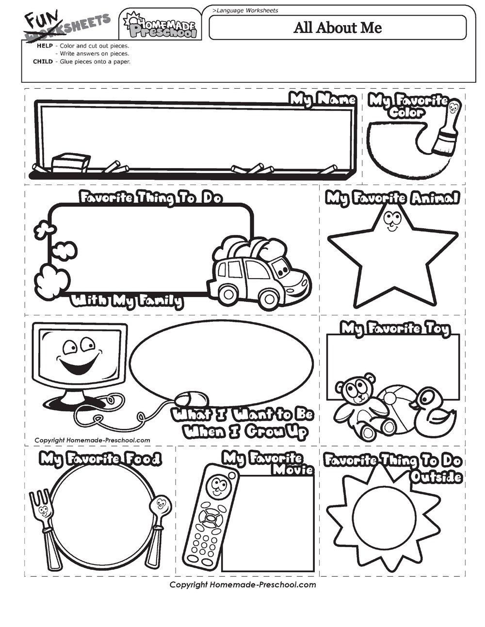 All About Me Coloring Pages All About Me Coloring Page Free